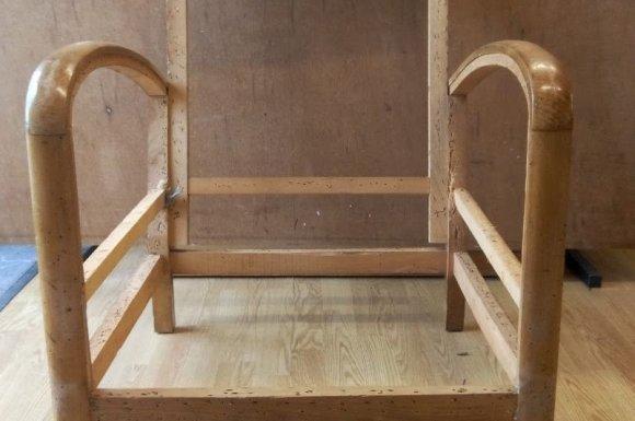 Fauteuil studio années 30 (bois vernis) à Toulouse