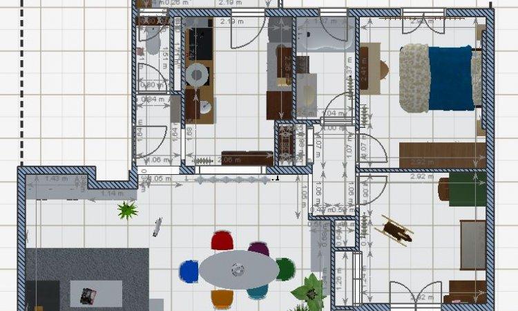 appartement en vue 2D