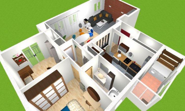 appartement en vue 3D
