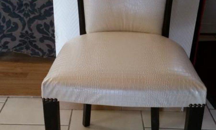 Sophia: chaise années 30 après loisir créatif  en tapisserie d'ameublement Toulouse