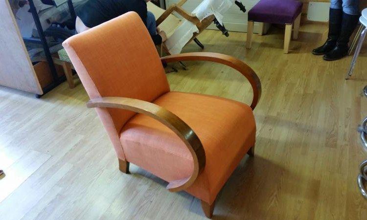 Sandra: fauteuil studio après loisir créatif en tapisserie d'ameublement Toulouse